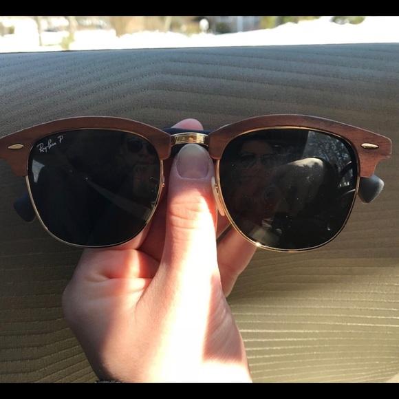 b9aead9043 Ray-Ban Clubmaster Wood Polarized Sunglasses Gold.  M 5ab9678e9d20f0c1dcad2f22